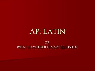 AP: LATIN