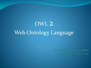 OWL  2 Web Ontology Language