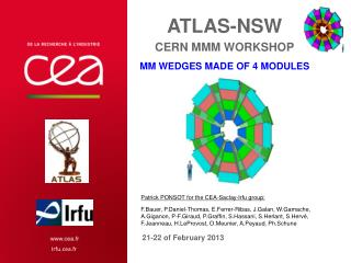 ATLAS-NSW CERN  MMM workshop MM  Wedges made of 4 modules