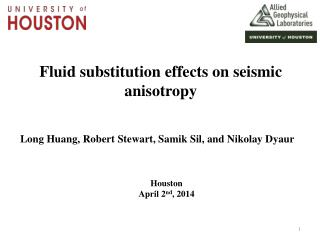 Fluid substitution effects  on  seismic  anisotropy