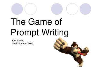The Game of Prompt Writing