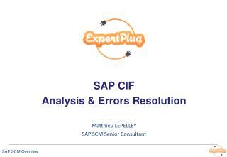 SAP  CIF  Analysis &  E rrors  R esolution