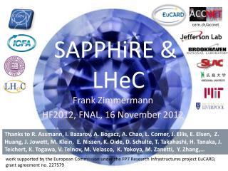 SAPPHiRE  & LHeC