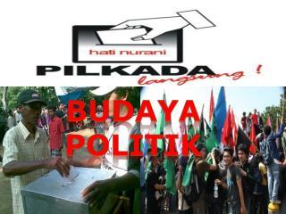 Budaya Politik