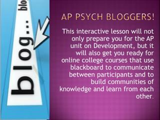 AP Psych bloggers!