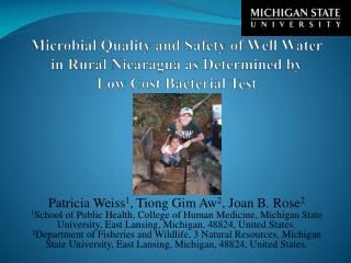 Patricia Weiss 1 , Tiong Gim Aw 2 , Joan B. Rose 2