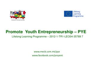Promote Youth Entrepreneurship  – PYE Lifelong Learning  Programme  – 2012-1-TR1-LEO04-35789  7