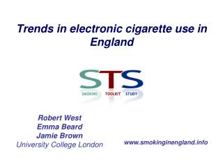 Trends in electronic cigarette use in England