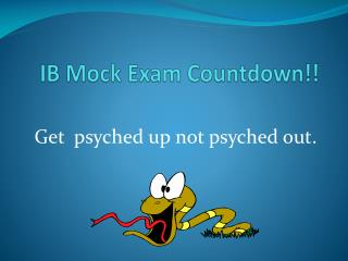 IB  Mock Exam  Countdown!!