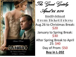 The Great Gatsby April 26, 2014