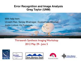 Error Recognition and Image Analysis Greg Taylor (UNM)