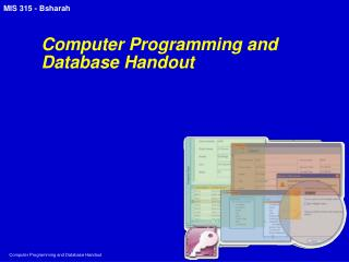 Computer Programming and Database Handout