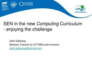SEN in the new  Computing  Curriculum - enjoying the challenge