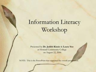 Information Literacy Workshop