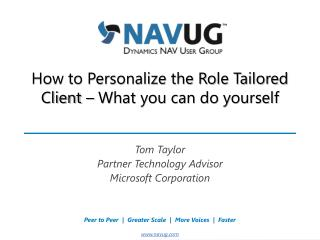 How to Personalize the Role Tailored Client – What you can do yourself