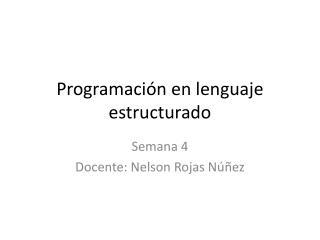 Programaci�n en lenguaje estructurado