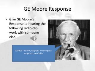 GE Moore Response