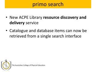 primo search