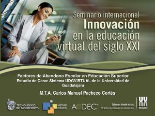 M.T.A. Carlos Manuel Pacheco Cort�s