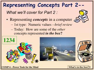 Representing Concepts Part 2--