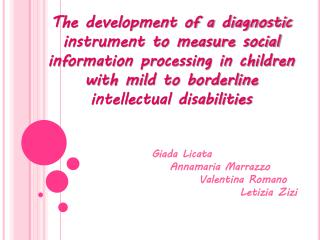 The development of a diagnostic instrument to measure social