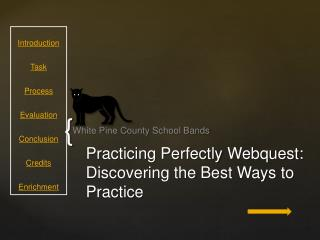 Practicing Perfectly  Webquest :  Discovering the Best Ways to Practice