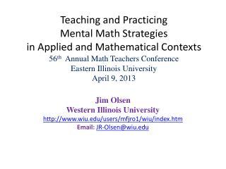 Jim Olsen Western Illinois University wiu/users/mfjro1/wiu/index.htm