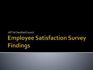 Employee Satisfaction Survey Findings