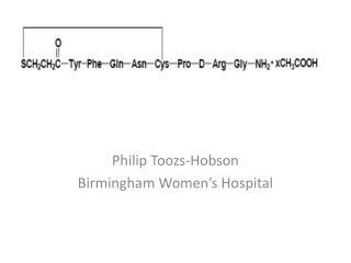 Philip Toozs-Hobson Birmingham Women's Hospital