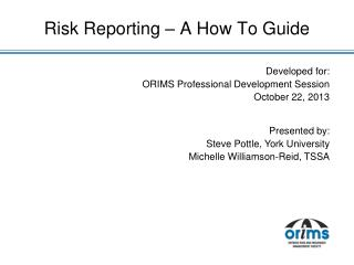 Risk Reporting – A How To Guide