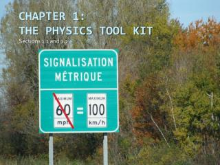 Chapter 1:  The Physics Tool Kit