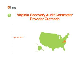 Virginia Recovery Audit Contractor Provider Outreach