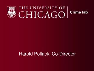 Harold Pollack, Co-Director