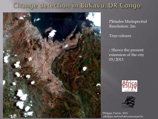 Change detection in Bukavu, DR Congo