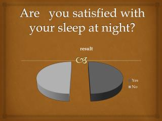 Are   you satisfied with your sleep at night?