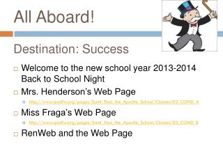 All Aboard!  Destination: Success