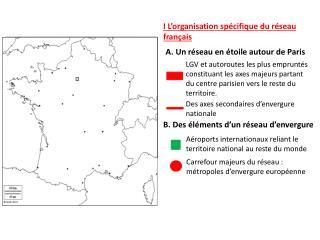 I L'organisation spécifique du réseau français