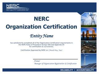 NERC Organization Certification