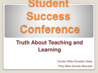 Student Success  Conference
