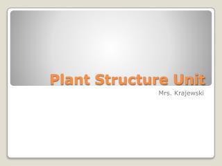 Plant  Structure  Unit