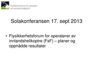 Solakonferansen  17.  sept  2013