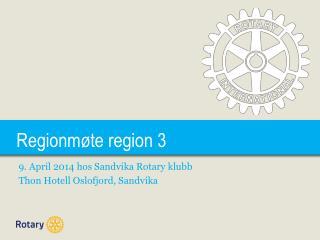 Regionmøte region 3