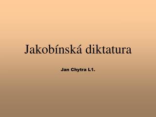 Jakob nsk  diktatura