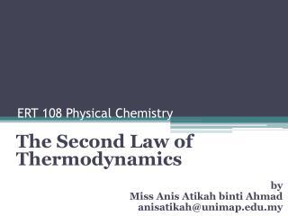 ERT 108 Physical Chemistry