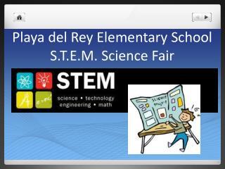 Playa del Rey Elementary School S.T.E.M. Science Fair