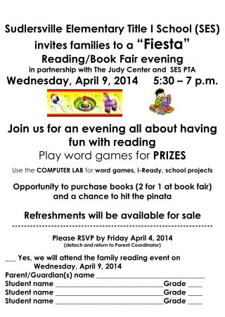 Join us for an evening all about  having fun with reading Play  word games for  PRIZES