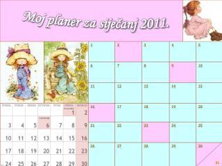 Moj planer za siječanj  2011 .
