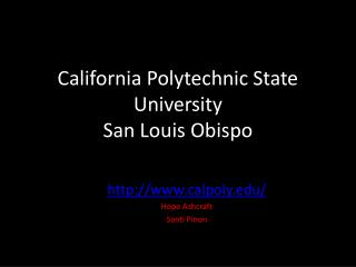 California Polytechnic State University  San Louis Obispo