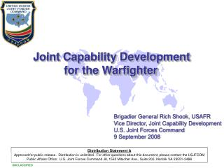 Joint Capability Development for the Warfighter