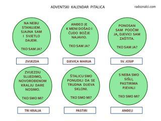 ADVENTSKI  KALENDAR  PITALICA